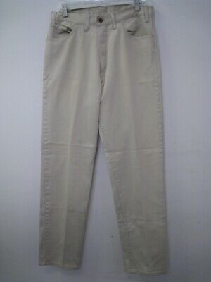 Vintage Levi's 1960s Mod Cotton Big E SLIM Twill Pants Sta-Prest Size 32 X 31