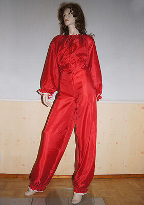 Strampler Overall Schlafanzug für Sissy Maid Zofe DWT AB in Rot