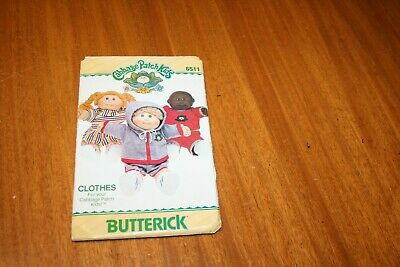 """VINTAGE 1984 BUTTERICK 6511 SEWING PATTERN CABBAGE PATCH KIDS CLOTHES 16"""" Doll"""