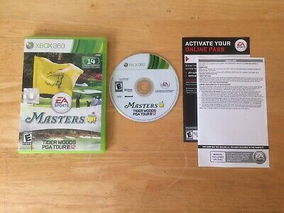 Tiger Woods PGA Tour 12: The Masters Microsoft Xbox 360 2011 Complete Tested CIB