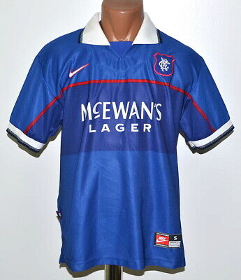 Rangers Scotland 1997/1998/1999 Home Football Shirt Jersey Nike Size S Adult