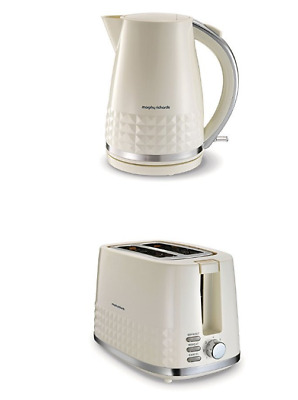 Morphy Richards Dimensions 2-Slice Toaster and Jug Kettle Set in Ivory Cream