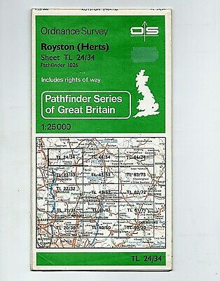 Original 1982 Ordnance Survey PATHFINDER map of ROYSTON, HERTS. No 1026