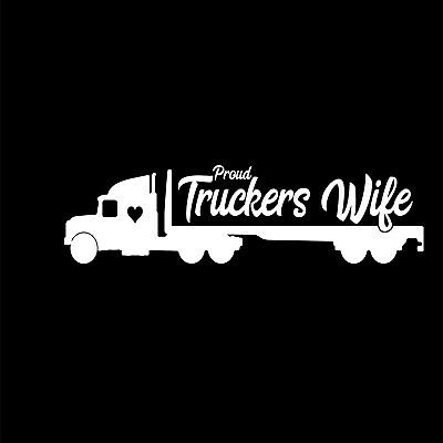 PROUD TRUCKERS WIFE Vinyl Decal Hibiscus Trucker Funny Car