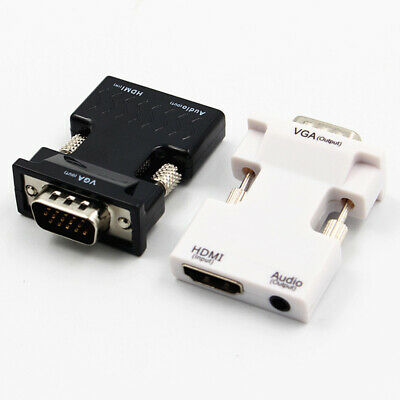 HDMI Female To VGA Male Converter With Audio Adapter Support Signal Output Input