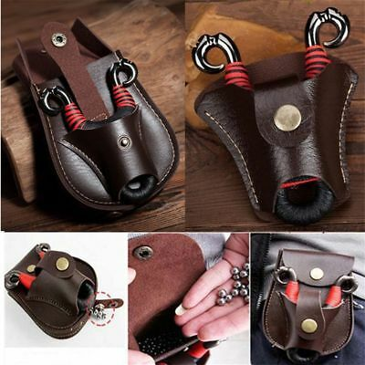 Outdoor Hunting Fiber Leather Slingshot Catapult Pouch Pocket Waist Bag Poratble