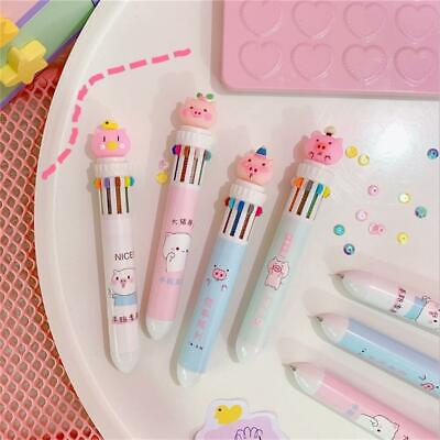 10Colors Ballpoint Pen 10 In 1 Multi-color Office School Students Stationer A6M5