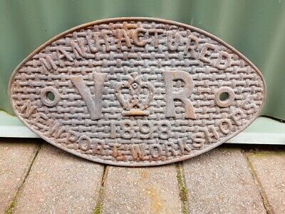 Railway Engine Makers Plate