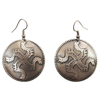 """Earrings """"Solstice» Modern product Ancient Russian jewelry Brass."""