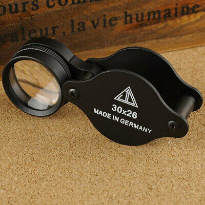 Jewellers Magnifying Loupe 30 x 26mm Glass Jewellery Antiques Magnifier Pocket