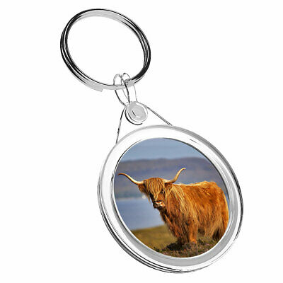 Scottish Toffee Highland Cow PomPom Fluffy Scotland Bag Purse Keyring Charm