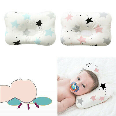 Cotton Newborn Baby Infant Cotton Pillow Positioner Prevent Flat Head Anti Roll#
