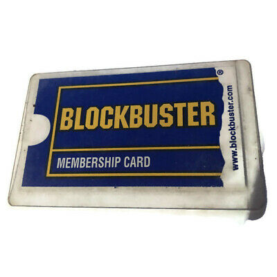 LOT OF 2 BLOCKBUSTER VIDEO Vintage Keychain Plastic Collectible Advertising