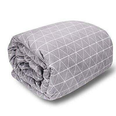 """rocabi 20 lbs Adult Weighted Blanket & Cover 80""""x86""""   20 lbs, Minky Grey"""