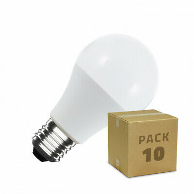 Pack 10 Bombillas LED E27 A60 5W Bombillas LED Packs de