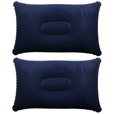 TRIXES Inflatable Pillow for Travel or Camping - 35 cm x 22 x 10 cm, Blue