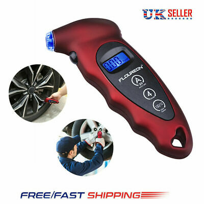 Digital LCD Tyre Air Pressure Gauge Tester 150 PSI Car Motorcycle Bike Van Tool