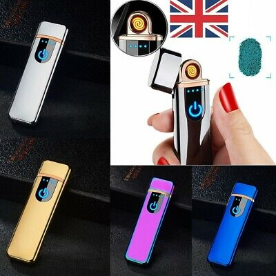 USB Rechargeable Electric Touch Sensor Metal Cigarette Lighter Windproof Lighter