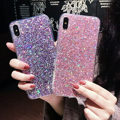 Bling Glitter Case For Samsung S10 S9 Plus A7 A9 2018 A70 Rubber Soft Slim Cover