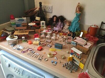 Huge Collection Sindy Barbie Dolls Clothes Furniture And Accessories