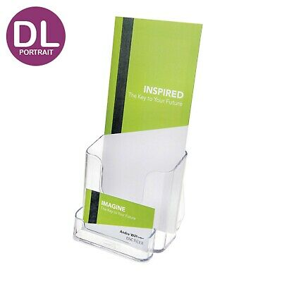 Brochure Holder with Business Card Holder - DL Portrait