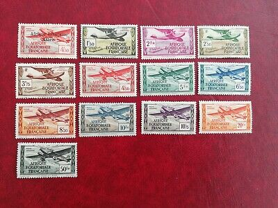 Aef Poste Aerienne : 13 Timbres Neufs Trace Charniere (An525)