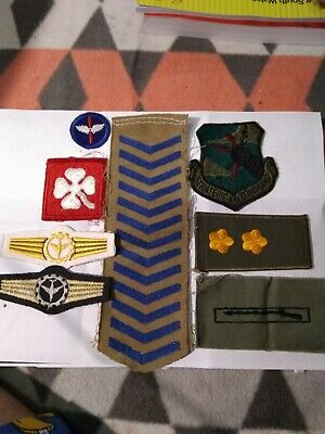8 Overseas Unidentified Military Soft Rank Badges Army Air Special Corps Force