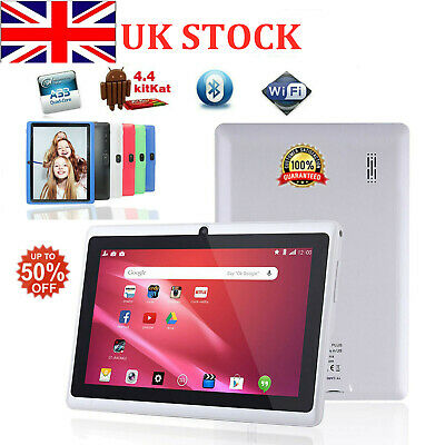7 Inch Android Tablet 4GB Quad Core 4.4 Dual Camera Bluetooth Wifi Tablet KID UK