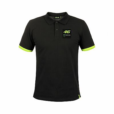 2018 VR46 Valentino Rossi #46 MotoGP Mens Polo Shirt Tee Monster Energy Design