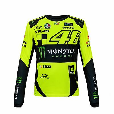 2018 VR46 Valentino Rossi #46 MotoGP Mens T-Shirt Tee Long Sleeve Monster Energy
