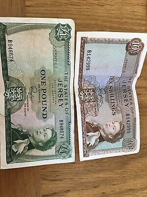 1963 Jersey £1 & 10/- Banknotes