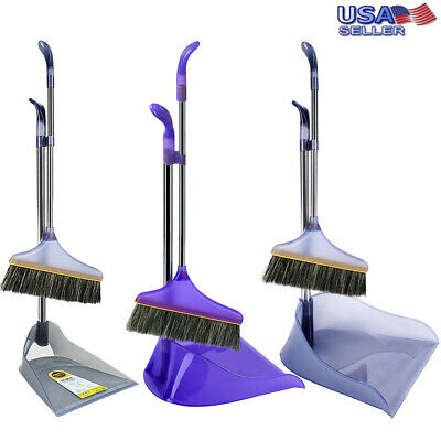 BROOM DUSTPAN SET Stand And Store Lobby Kitchen Home Floor Cleaning Set 35.5/""