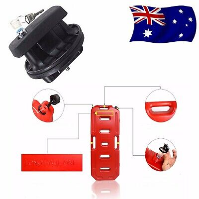 20L Red Jerry Can with Anti Theft Mount Lock Heavy Duty Spare Container Holder