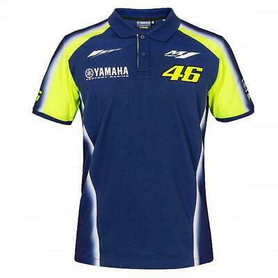 2018 VR46 Valentino Rossi #46 MotoGP Mens Team Polo Shirt Yamaha Factory Racing