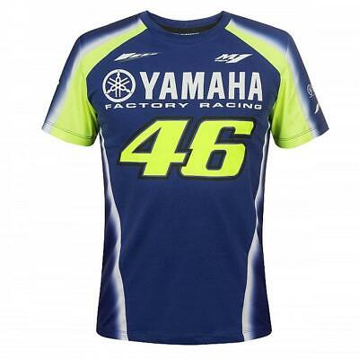 2018 VR46 Valentino Rossi #46 MotoGP Mens T-Shirt in Blue Yamaha Factory Racing