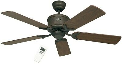 Modern Energy saving Ceiling Fan with Remote Control Eco Element Braun Antique