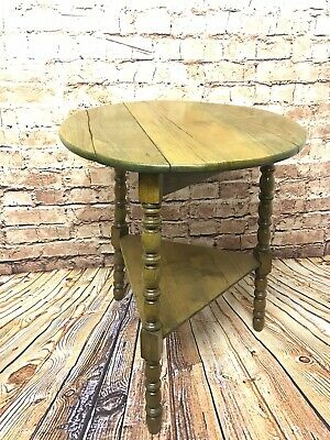Antique oak cricket table With bobbin Turned Legs