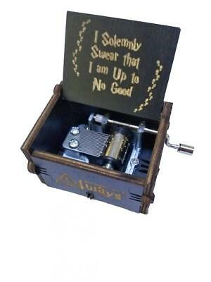 OMZGXGOD Black Harry Potter Music Box Hand-Wooden Creative Wooden...