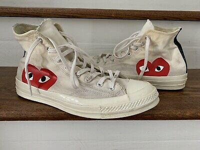 CONVERSE X COMMES des garcons CDG PLAY Chuck Taylor mens US 10 Preowned