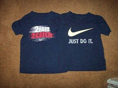 Nike Boy's Size 3T Lot of 2 Short Sleeve Shirts Pre-Owned Blue