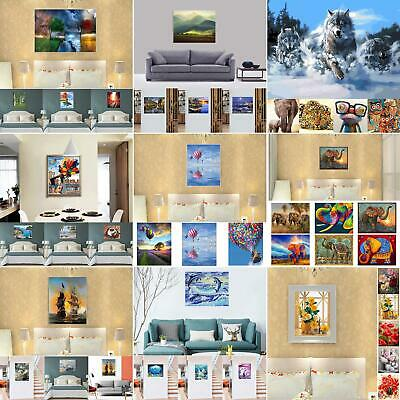 Ee_ Canvas Diy Digital Oil Painting Kit Paint By Numbers Unframed Decor 20X16''