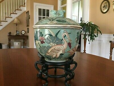 Chinese Porcelain Lidded Pot Marked