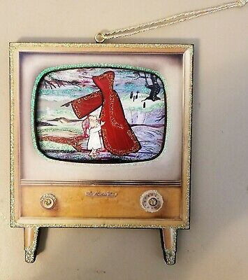 Mr Magoo A Christmas Carol w/ghost mid century TV~3D GlittereD OrnamenT VTG ImG