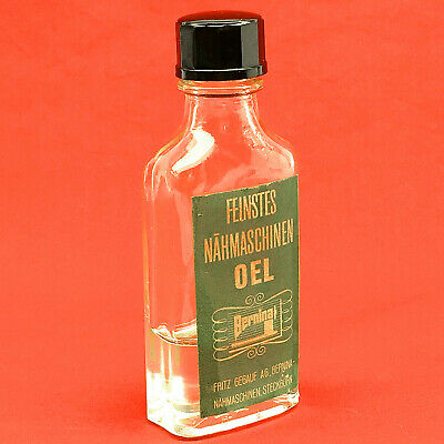 Vintage BERNINA Sewing Machine Oil Glass Bottle Oil Container 30ml