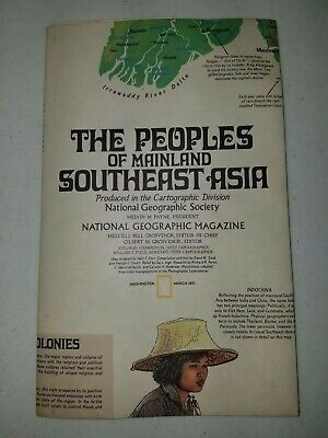 Map: The Peoples of Mainland Southeast Asia  National Geographic B - 136