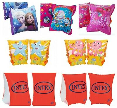 Kids Inflatable Swimming Armbands Paw Patrol Frozen Trolls Girls Boys 3-12 Gift