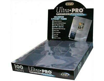 Ultra Pro Platinum Series 9-Pocket Trading Card Pages Sealed 100 Pack