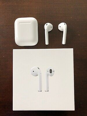 Apple AirPods MV7N2AM/A 2nd Generation Genuine Airpod With Charging Case, White