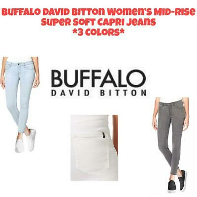 NWT Buffalo David Bitton Women's Mid-Rise Super Soft Capri Jeans FREE SHIPPING
