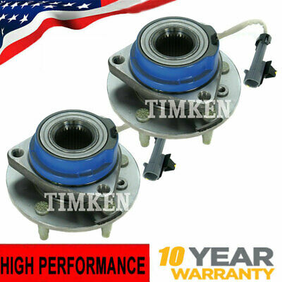 Pair Set of 2 Timken Front Wheel Hub & Bearing Assembly fits Chevy Pontiac w/ABS
